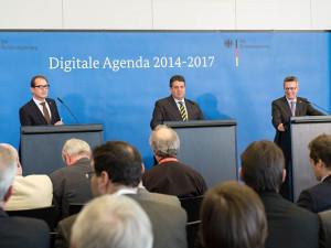Bundesregierung bei der Vorstellung der Digitalen Agenda 2014