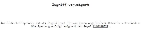 Will man die Webseite der schwedischen Zeitung Flamman besuchen, wird man vom IVBB blockiert.