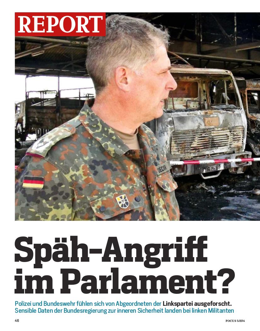 Reißerischer Aufmacher im FOCUS. Der Schreiber kennt die Gepflogenheiten des Bundestages jedoch nicht.
