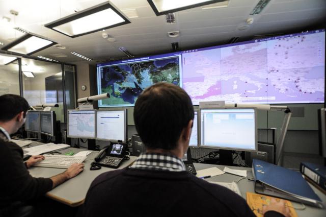 """Das """"Frontex Situation Centre"""" in Warschau fungiert als Lagezentrum für EUROSUR."""