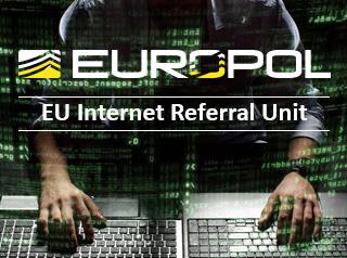 """Symbolbild von Europol für die neue """"Meldestelle für Internetinhalte""""."""