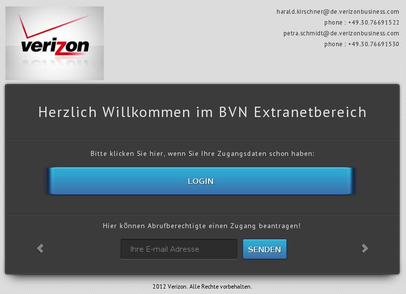 Informationsverbund der Bundesverwaltung. Copyright Verizon.