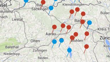 """Screenshot der App """"KAPO Aargau"""" der Kantonspolizei Aargau."""