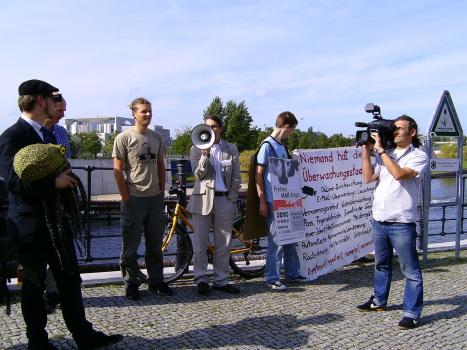 Protest zum Datenschutzgipfel, Foto von Lotar Küppers (CC-lizensiert)