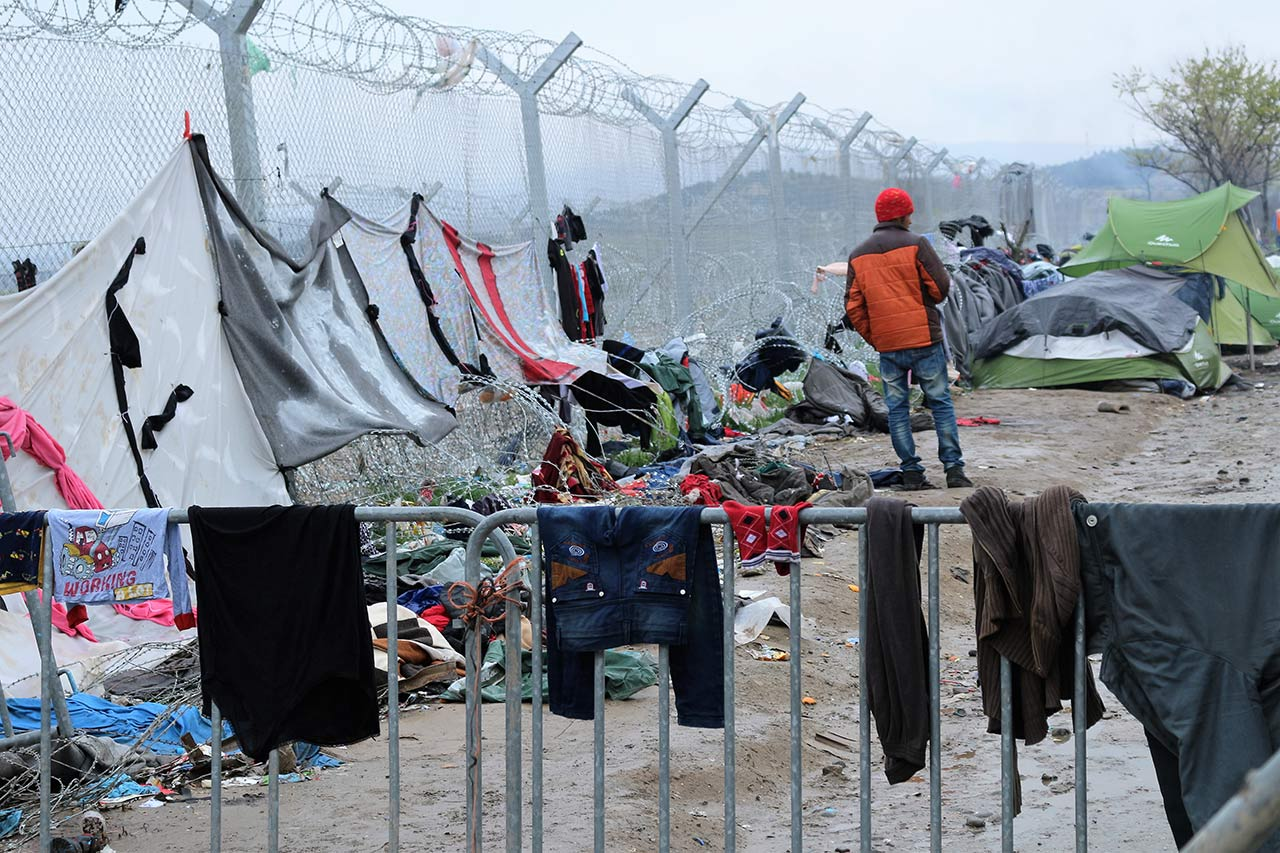 Grenzzaun in Idomeni an der mazedonischen Grenze. Foto: CC-BY-SA Rebecca Ciesielski
