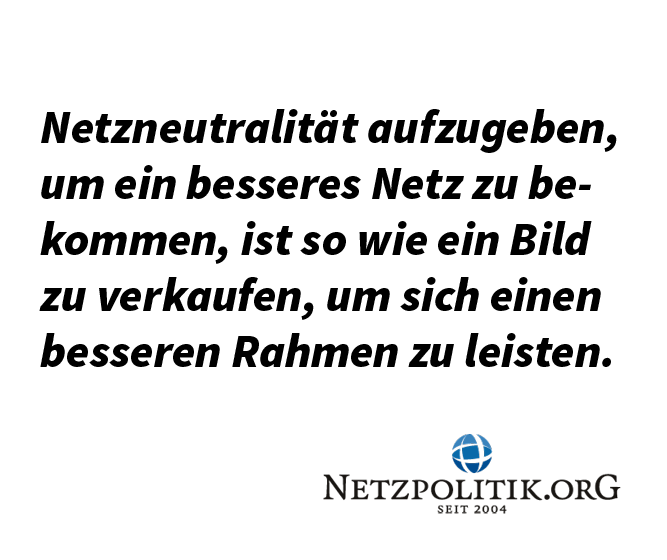 Netzneutralität vs. Netzausbau