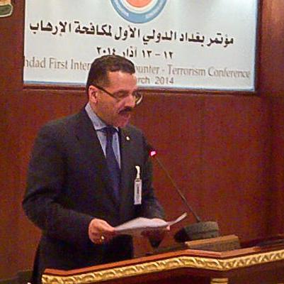 """Der Interpol-Direktor auf einer """"Anti-Terror-Konferenz"""" im März in Bagdad"""