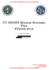 Strategischer Fünfjahresplan der NSA.