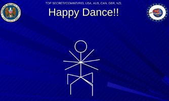 Happy Dance Ausschnitt aus NSA Folie