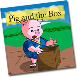 Original cover of the book pig and the box
