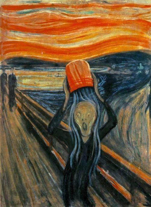 """Ice-Bucket-Challenge-Version von Edvard Munchs """"Schrei"""", Urheber unbekannt (via)."""