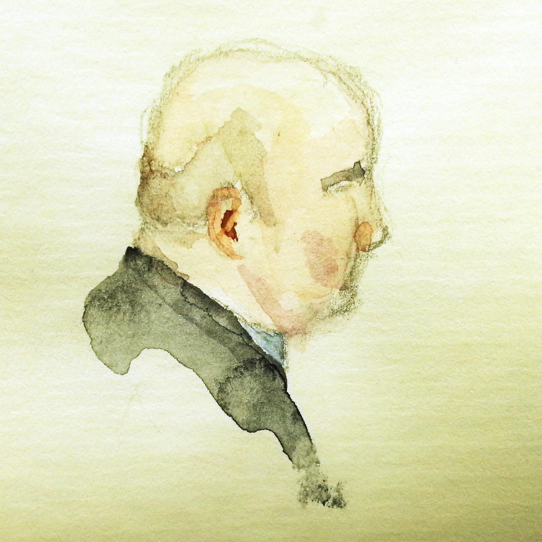 Dr. Peter Bartodziej, ehem. Referatsleiter im Bundeskanzleramt, Zeichnung: Stella Schiffczyk