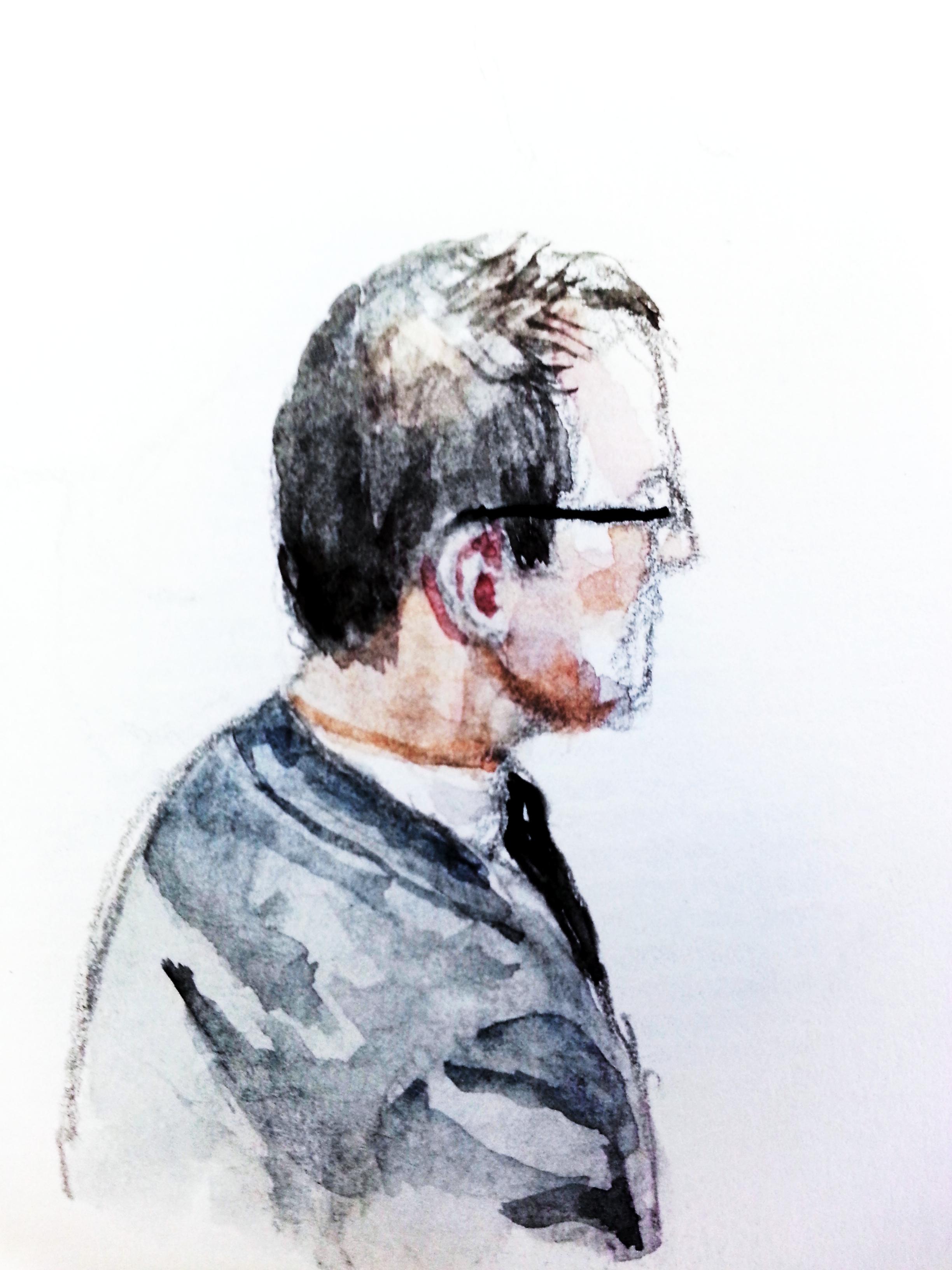 BND-Mitarbeiter D.B. Zeichnung: Stella Schiffczyk