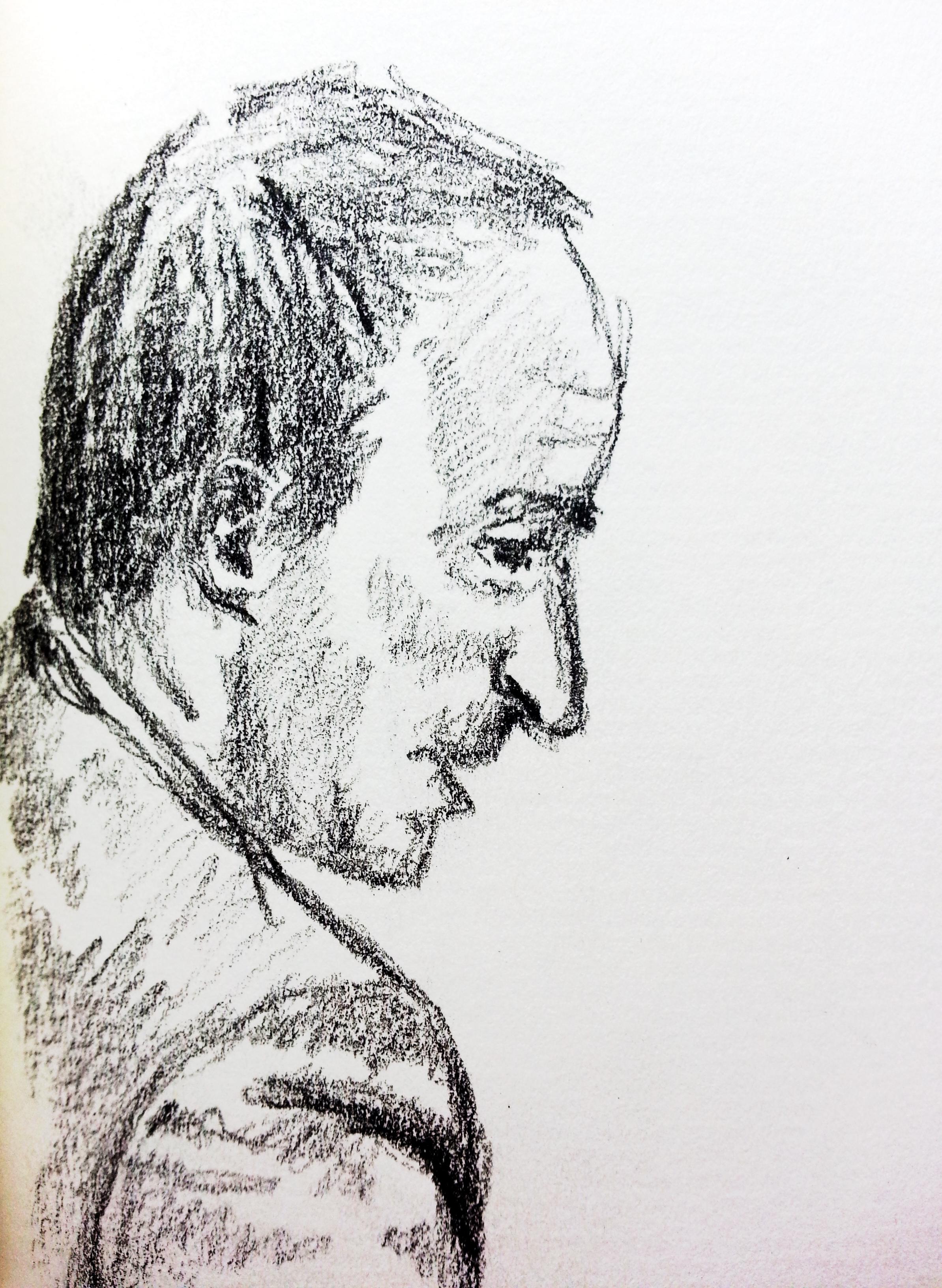 BND-Mitarbeiter R.U. Zeichnung: Stella Schiffczyk