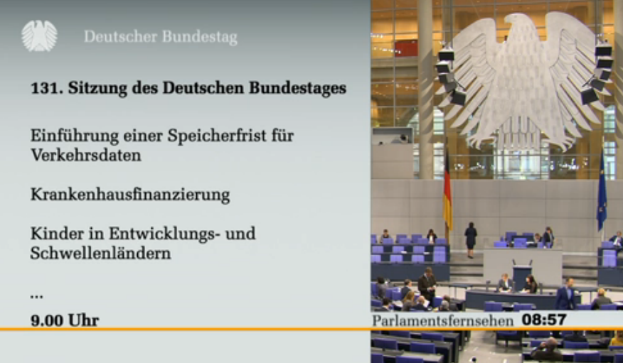 Screenshot Bundestags-TV