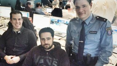"Das ""Social Media Team"" der Frankfurter Polizei."