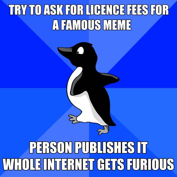 Gemeinfreier Socially Awkward Penguin, (CC0)
