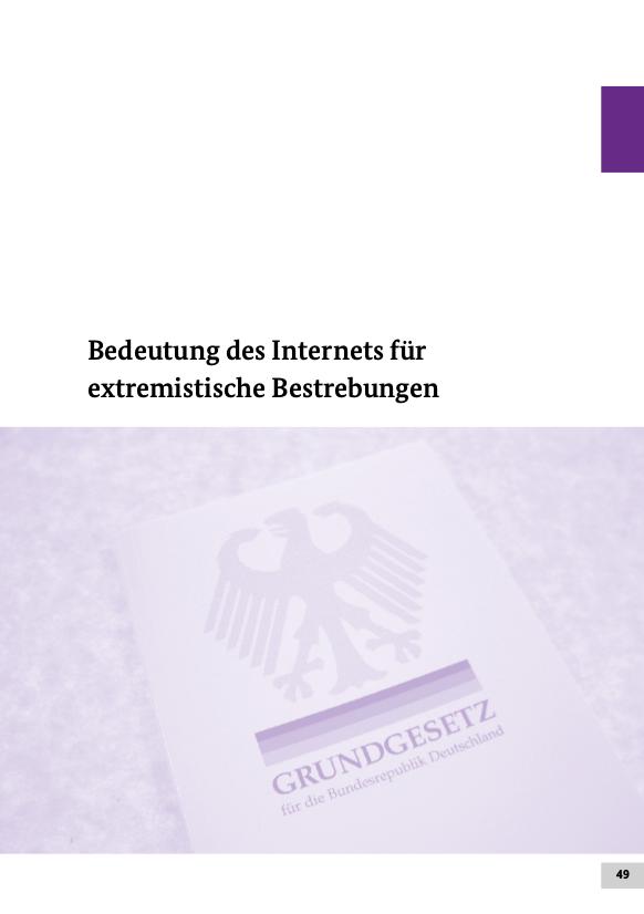 Das Internet hat ein eigenes Kapitel im aktuellen Verfassungsschutzbericht.