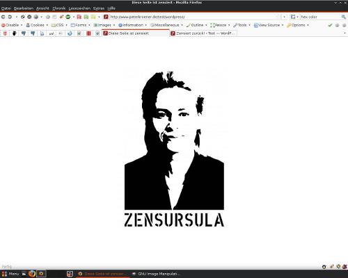 Zensursula-Schablone